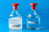 Ethanoic acid,glacial and liquid