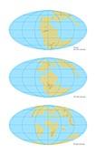 Pangea break-up,global maps