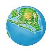 Jurassic Asia,Earth globe