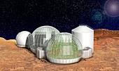 Mars base,artwork