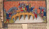 Battle on bridge over Seine
