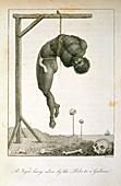 A Negro hung alive
