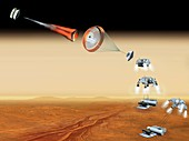 Mars sample return mission,artwork