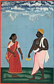 Fruit-seller and wife