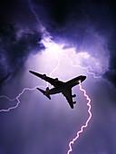 Lightning Strike on Aircraft