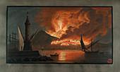 Eruption of Mt. Vesuvius,1767
