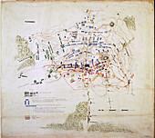 Plan of the Battle of Waterloo