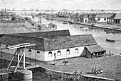Jakarta port,19th Century engraving