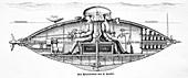 Goubet submarine,19th-century artwork