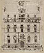 Front elevation of a baroque building in