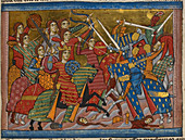 Battle between Amazons and Greeks
