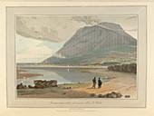The mountain peak of Penman-mawr
