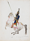 A prosperous Akali mounted on horseback
