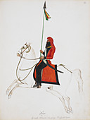 Cavalryman carrying a lance with pennant