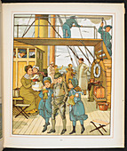 Family on board a passenger ship