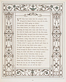Page of text with floral border