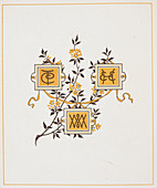 Page with floral decoration