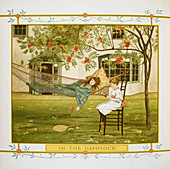 Young girl in a hammock