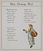 The orange girl. A seller of oranges