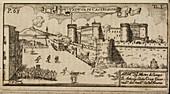 Castelnovo a hilltop fort,Naples,Italy