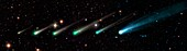 Comet ISON,time-lapse montage