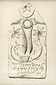 Carved tablet from Carthage,1844