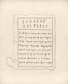 Anglo-Saxon lead book cover,1852