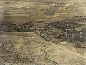 World War I trenches,aerial photograph