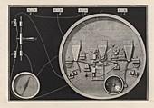 Telegraph dial mechanism,1850