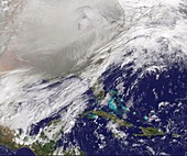 Polar vortex over USA,January 2014