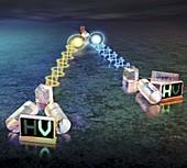 Quantum entanglement experiment,artwork