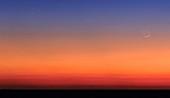 Pleiades,Moon and Mars at sunrise