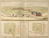 Plymouth dockyard and harbour in Devon