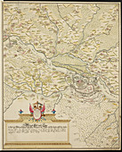 Map of Belgrade during the siege of 1693