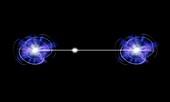 Quantum entanglement,conceptual artwork