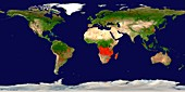 Global fire map,August 2013
