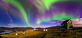 Auroral display,Greenland
