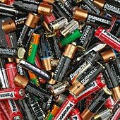 Pile of dead batteries