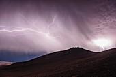 Lightning storm over Cerro Paranal