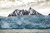 Glacial ice cliff