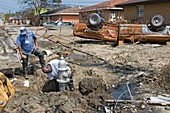Repairing Hurricane Katrina damage