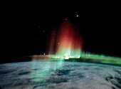 Aurora borealis seen from the ISS