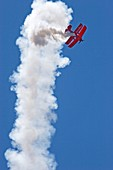 Aerial acrobatics display