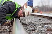 Rail yard track maintenance