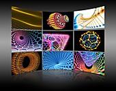 Nanotechnology display wall,artwork