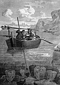 Sponge fishers,19th century artwork