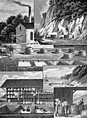 Chalk production,19th century artwork