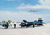 X-15 aircraft after landing,1961