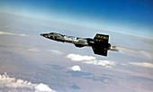 X-15 aircraft in flight,1960s