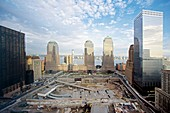 Construction at the Twin Towers site,USA